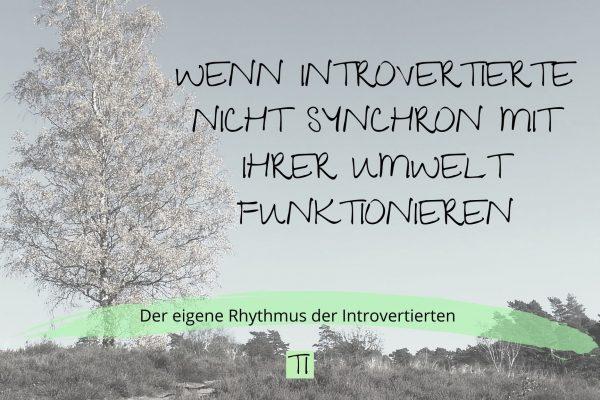 Titel: Wenn Introvertierte nicht synchron mit ihrer Umwelt funktionieren | Team Introvertiert