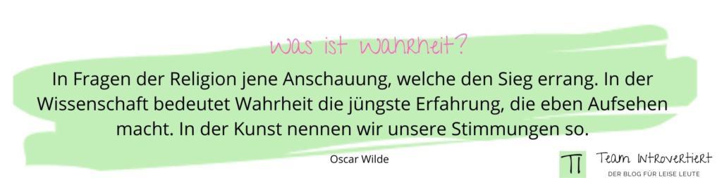 Zitat Oscar Wilde | Team Introvertiert