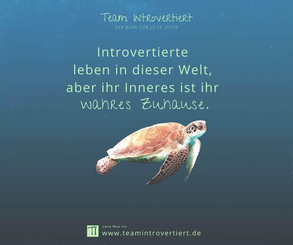 Introvertierte leben in dieser Welt, aber ihr Inneres ist ihr wahres Zuhause. | Team Introvertiert