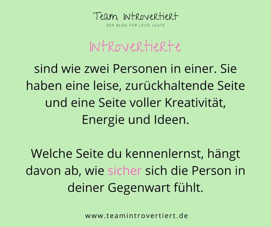 Zitat: Introvertiere sind wie zwei Personen in einer | Team Introvertiert