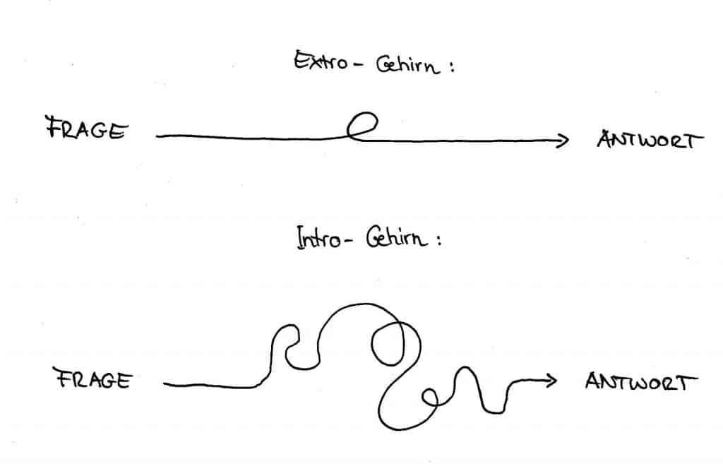 Extro-Gehirn und Intro-Gehirn | Team Introvertiert